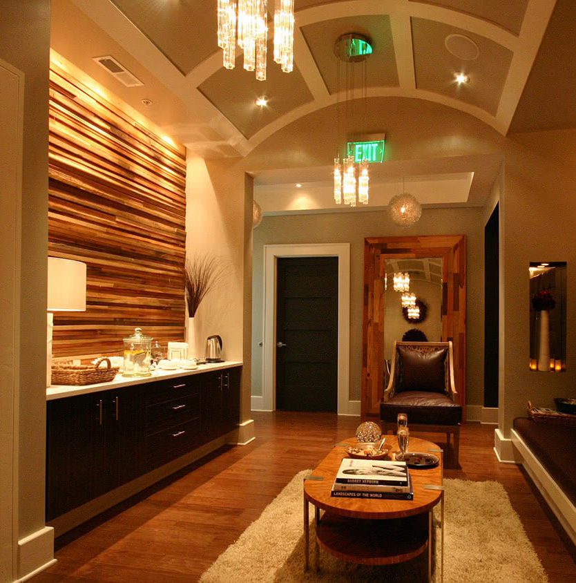 Spa Lobby Area - Material and Finish Selection - Warm Atmosphere