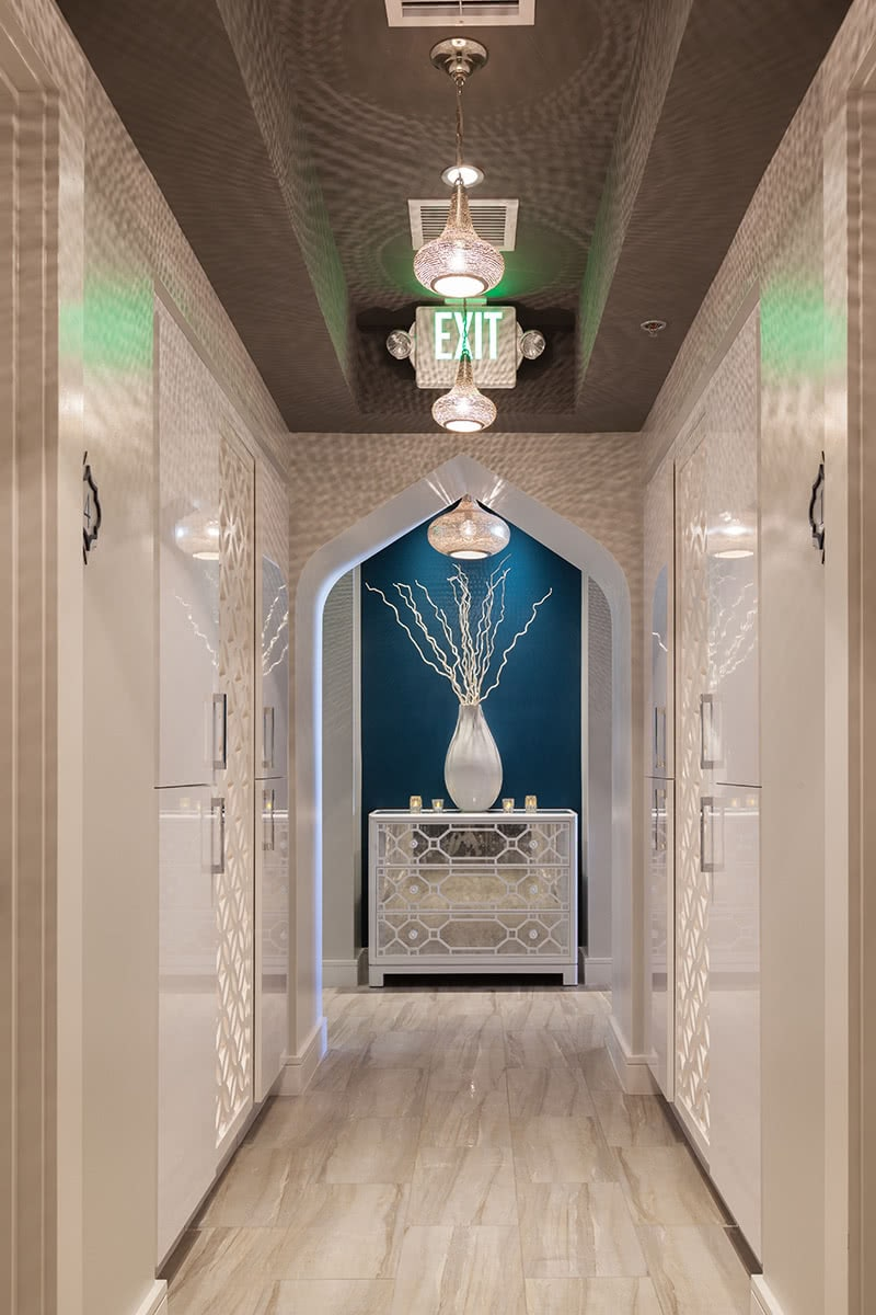 Ceiling and Lighting Design - Spa Hallway and Transitional Area