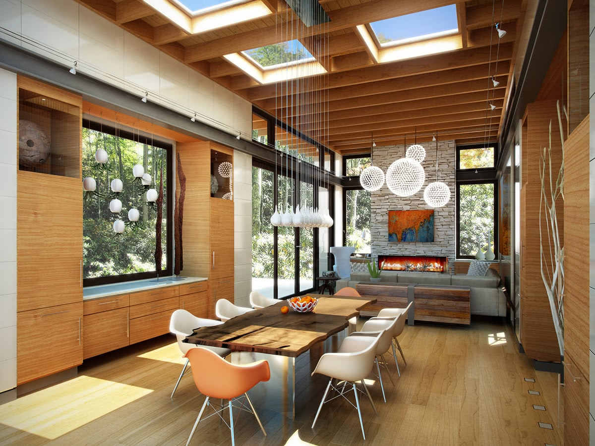 Living/Dining Room Design - Modern Open Floor Layout