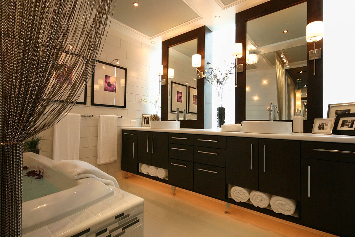 Modern, Spa-Inspired Master Bath