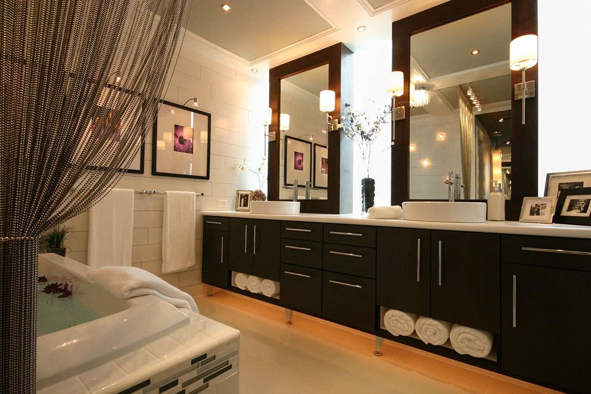 Modern, Spa-Inspired Master Bath