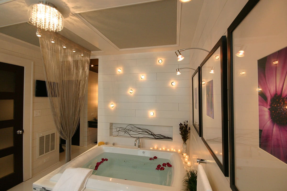 Spa-Inspired Bathroom Layout