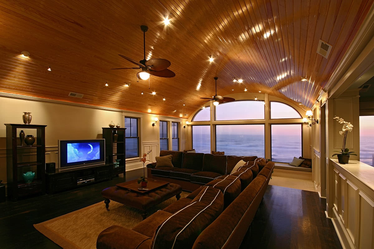 Living Room Design - Ocean Front Home Interior Design - Duck, NC