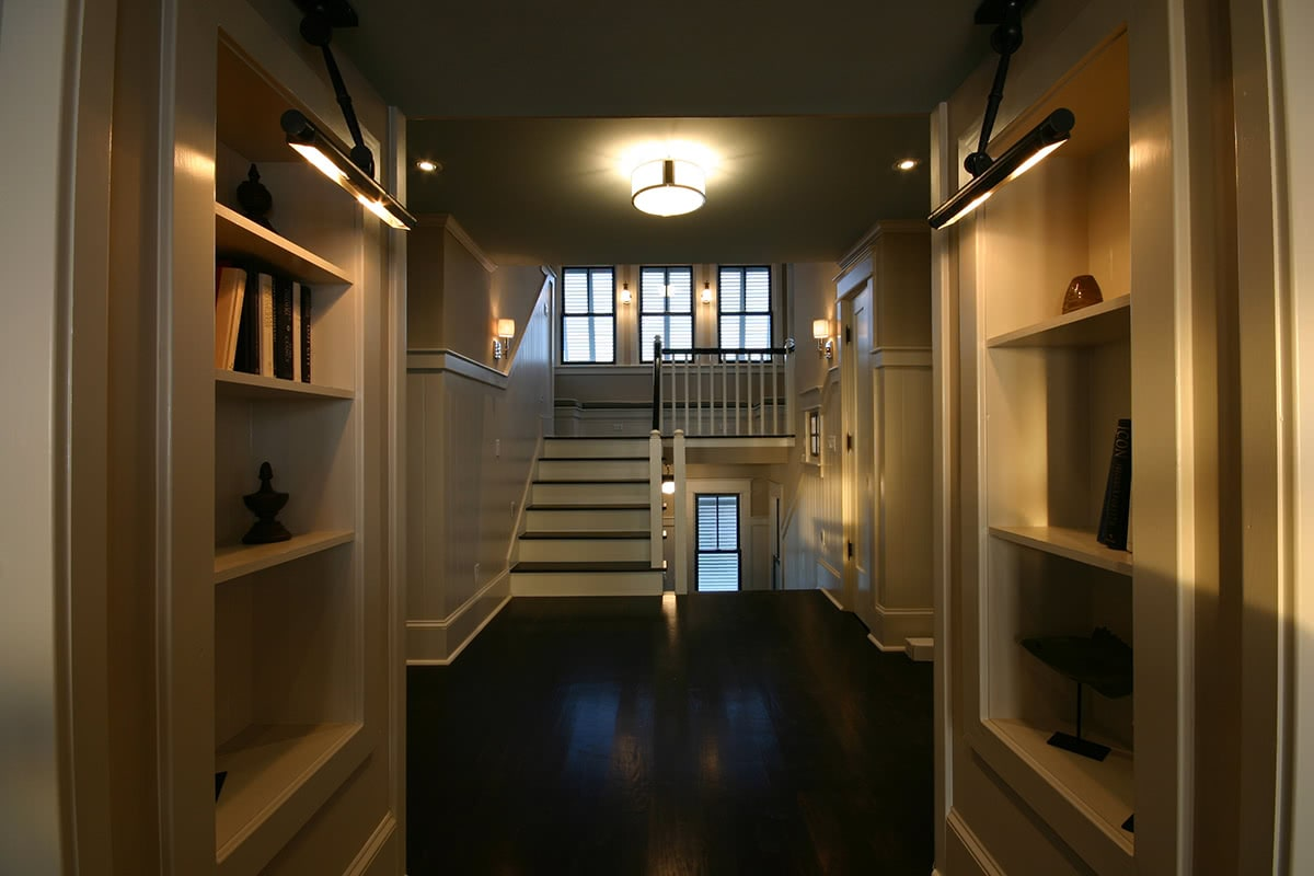 Staircase Design - Dark Wood Flooring
