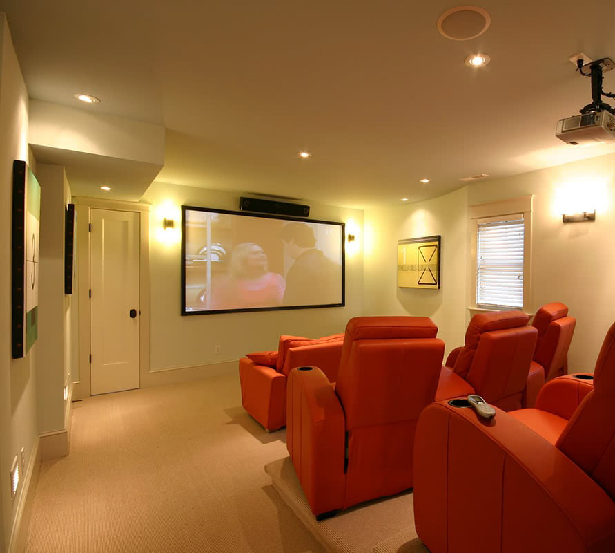 Residential House Theater Design - Duck, NC Residential House Design
