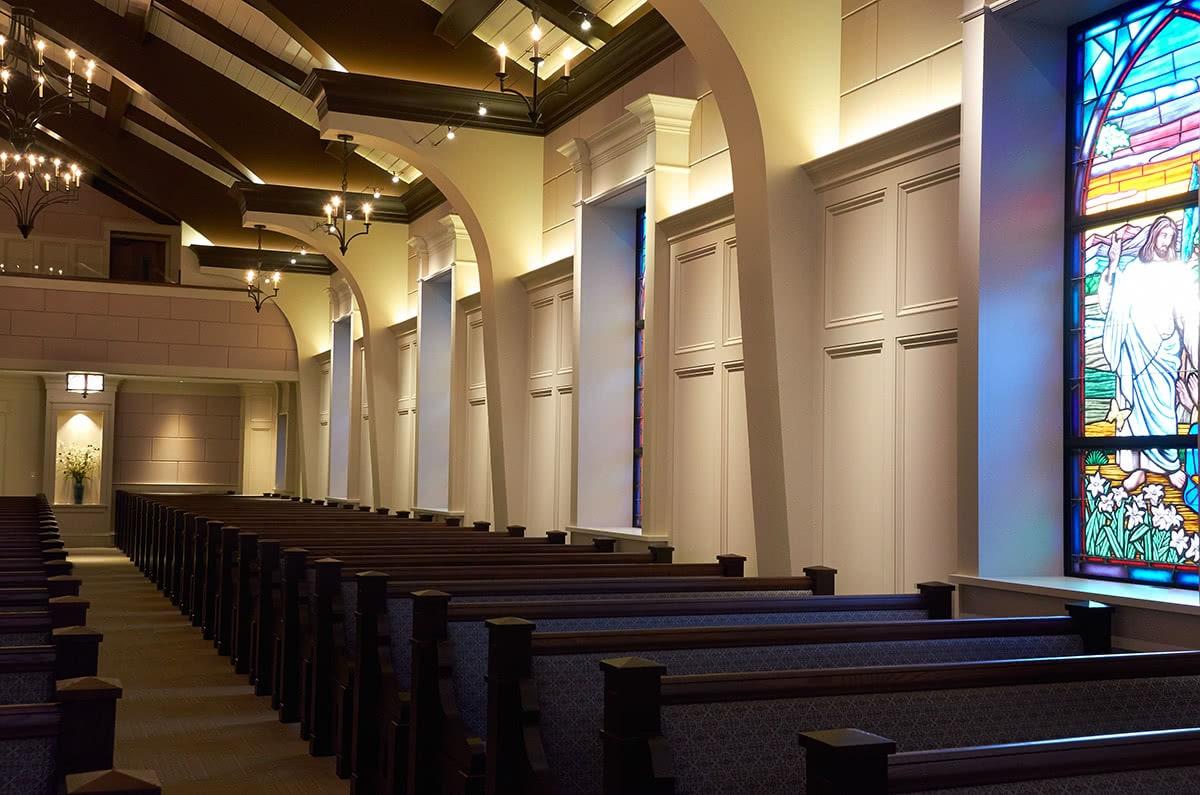 Custom Dark Wood Church Pews
