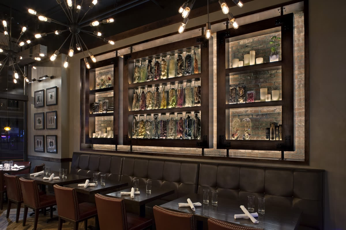 Posana Restaurant Asheville NC Bar Seating Area - Interior Design Services
