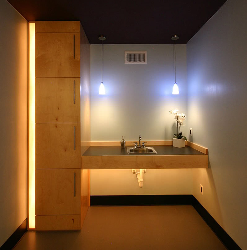 Bathroom Design - Spa Sink Lighting - Asheville, NC