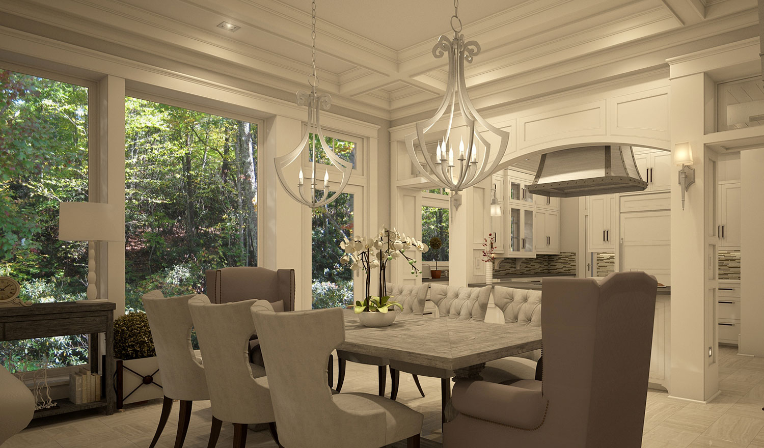 Residential House Interior Design - Furniture, Ceiling And Lighting Curation