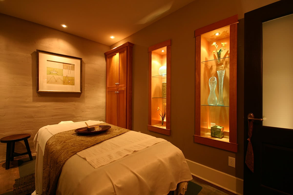 Treatment Room Furniture, Fixture, and Lighting Design - Decorative Pieces Creating Ambience