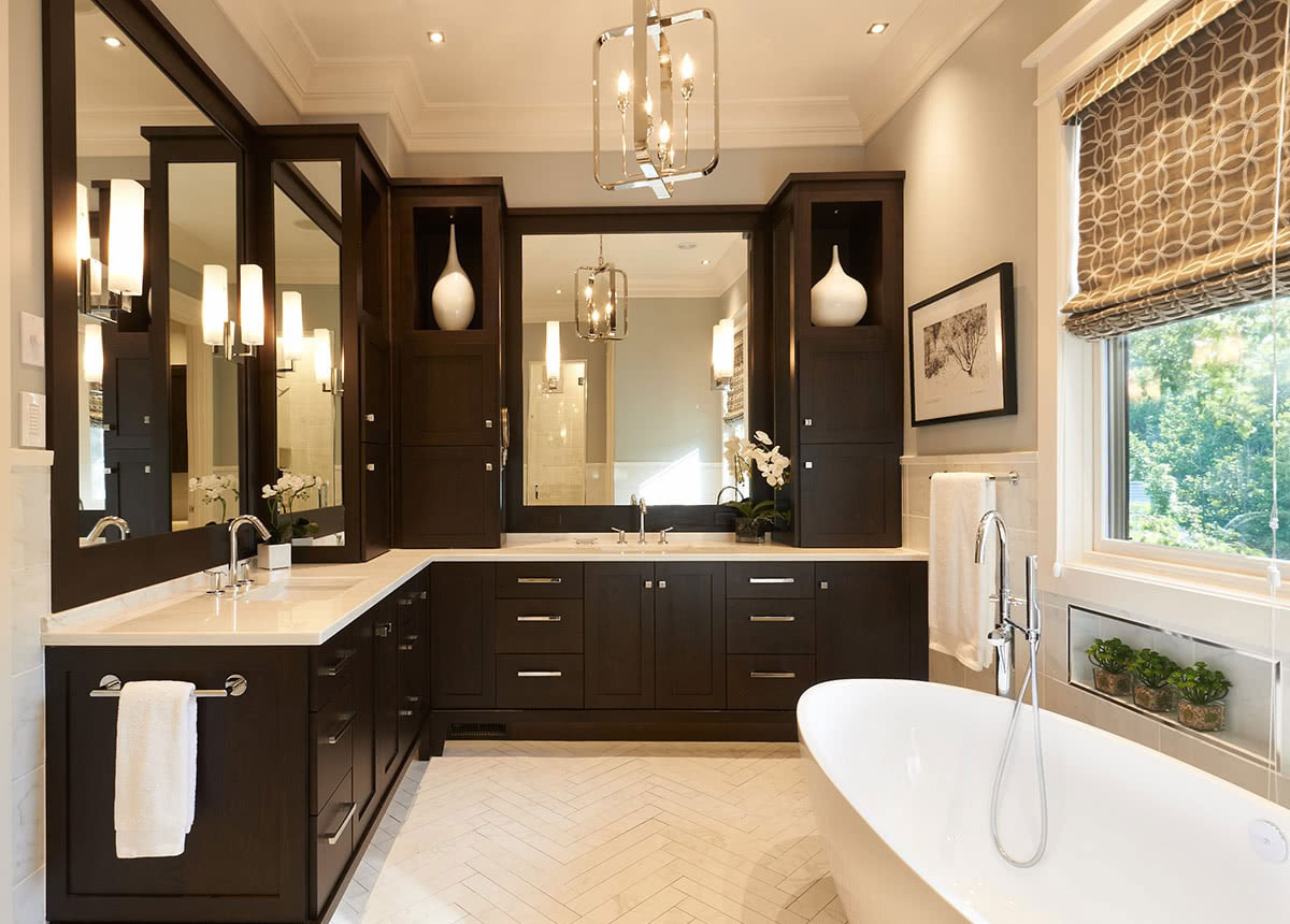 Bathroom Ceiling & Lighting Design, Finish Selections